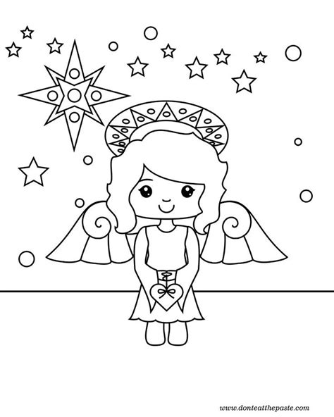 preschool coloring pages angels 35 best preschool christmas how the grinch stole