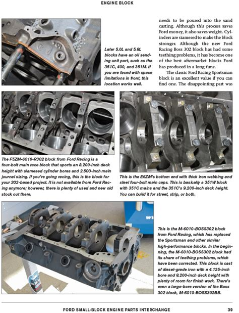 ford big block parts interchange books ford small block engine parts interchange cleveland