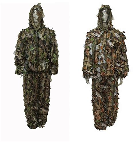 nature camo pattern reversible hunting leafy ghillie suit natural blind