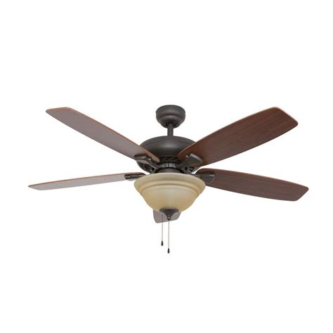hton bay glendale 52 in rubbed bronze ceiling fan