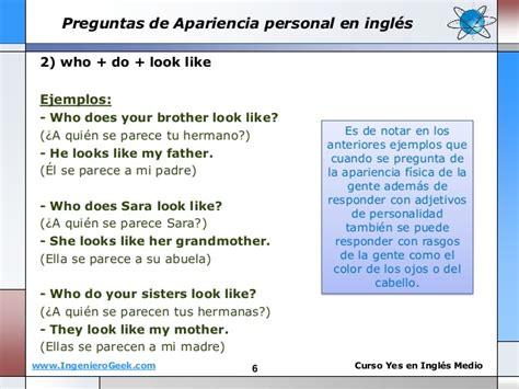 preguntas con look like 1 8 preguntas de personalidad apariencia be like look like