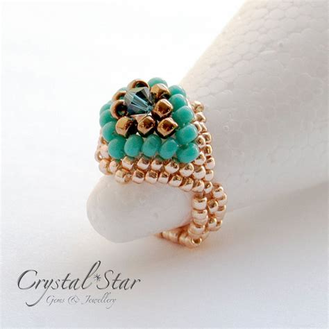bead jewelry rings felicity beaded ring tutorial gems jewellery