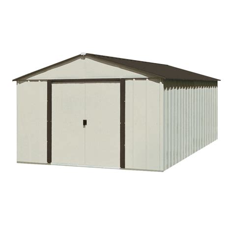 Arrow Aluminum Sheds arrow 10 1 4 ft x 12 1 8 ft galvanized steel storage shed