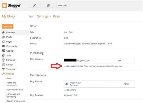 blogger atau blogspot cara custom domain blogspot atau blogger di rumahweb com