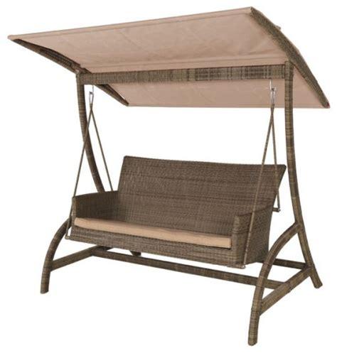 garden swing chair uk alexander rose monte carlo rattan garden swing seat 163 989 99