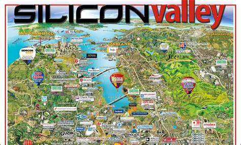 silicon valley map 2016 silicon valley interactive map silicon maps evernote publisher