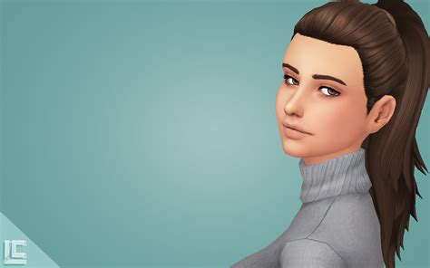 ponytailsims 4 child my sims 4 blog simple ponytail recolors by littlecrisps