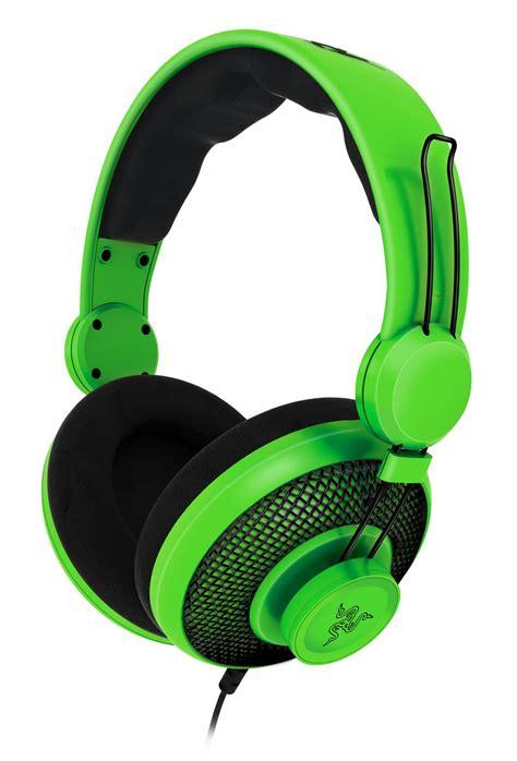 Headphone Gaming Razer razer has some pretty green headphones gaming nexus