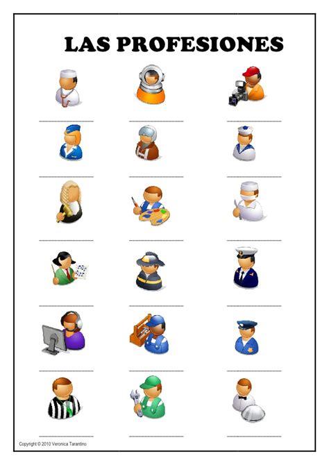 imagenes de profesiones en ingles y español las profesiones