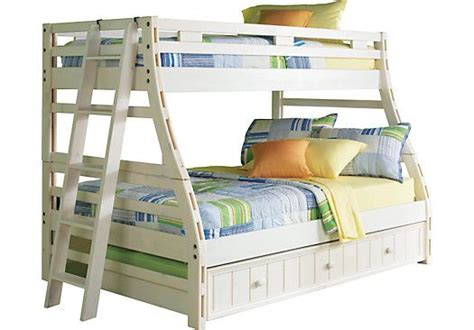 roomstogokids bunk beds shop for a creekside white wash bunk bed at