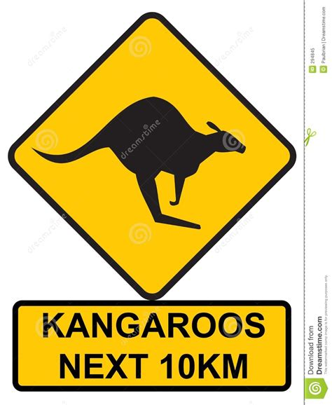 printable road signs australia kangaroos ahead stock vector image of freeway down