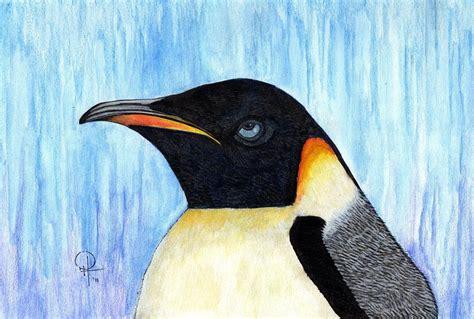 painting penguin blue eyed penguin by doug hiser