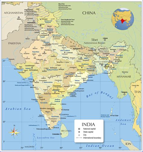 india map with cities map of india nations project