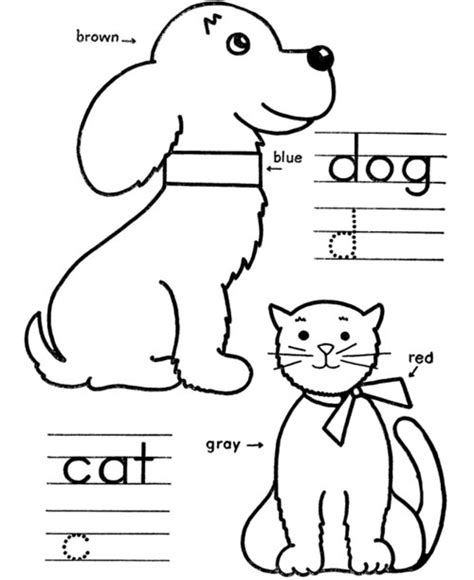 free educational coloring pages for toddlers free coloring pages dog and cat coloring pages for kids