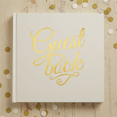 Guest Book Design For Wedding by Ivory And Gold Foiled Wedding Guest Book By