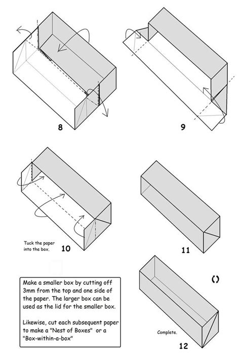 How To Make A Rectangular Box Out Of Paper - 107 best images about origami boxes on simple