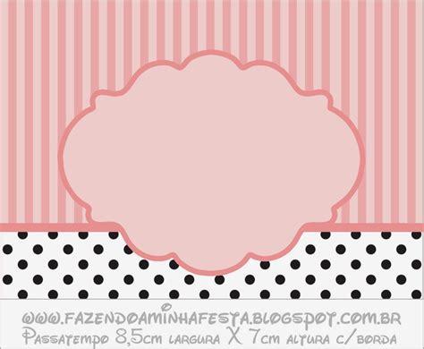 Pink Polka Dot Wall Stickers rayas rosa y lunares negros etiquetas para candy bar para