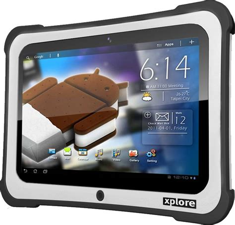 rugged android tablet xplore rangerx lightweight rugged android tablet