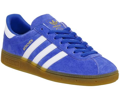 Adidas Munchen Snakers adidas munchen trainers blue white gum trainers shoes ebay