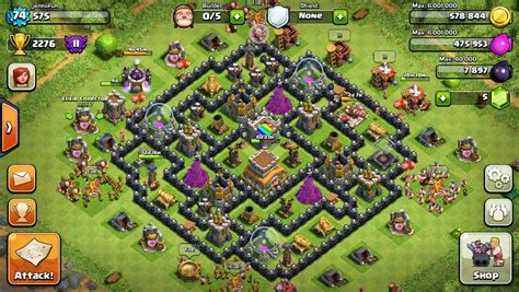 best layout of coc th8 coc th8 hybrid base