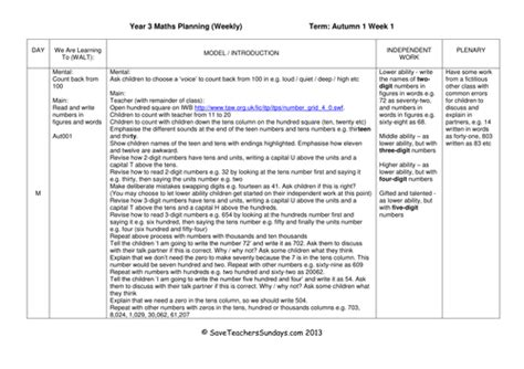 new year lesson plan year 3 year 3 maths planning new 2014 curriculum by