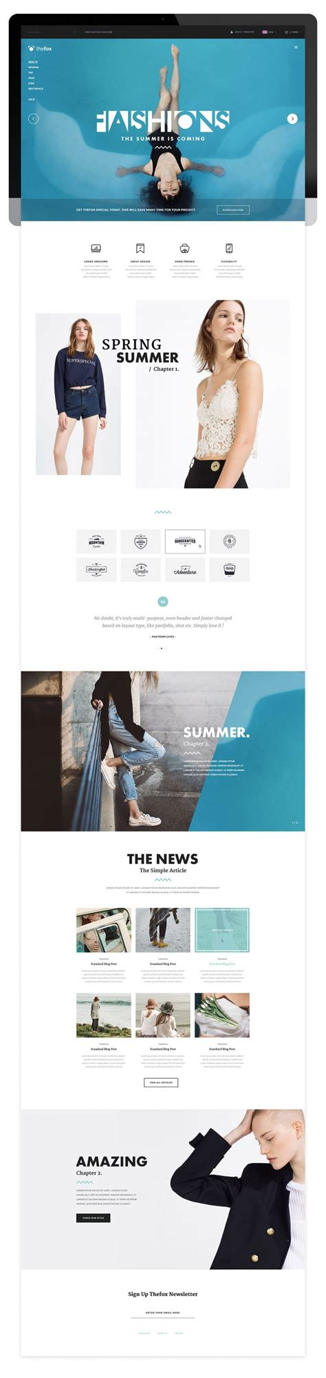 fashion templates for blogger free download elegant multipurpose fashion blog template free psd