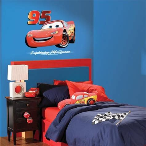disney cars bedroom decor lightning mcqueen wall