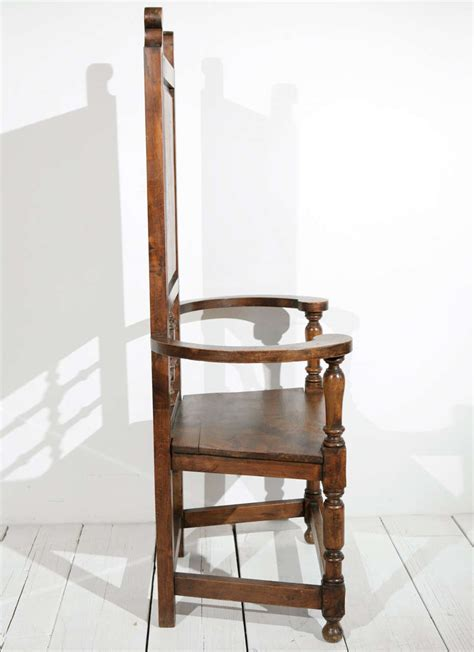 High Back Dining Room Chairs With Arms High Back Pine Throne Dining Arm Chair At 1stdibs