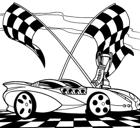 hot wheels free colouring pages