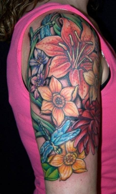 tattoo flower half sleeves womens half sleeve tattoo great arm tattoo ideas for