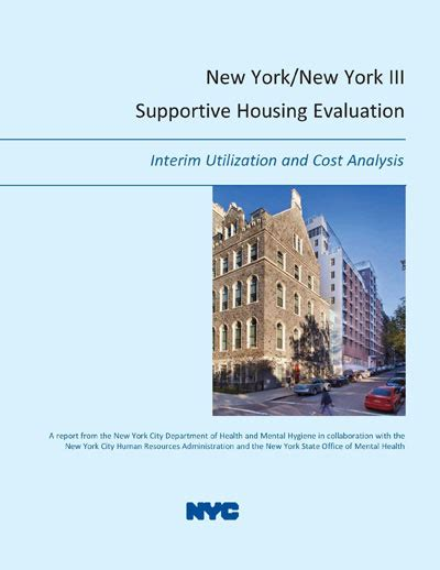 supportive housing nyc ny ny iii supportive housing saved 10k per tennant aapci