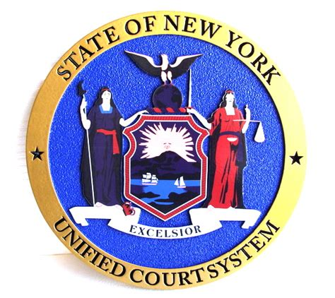 New York State Unified Court System Search State Seal And State Government Executive Legislative And Judicial Wall Plaques