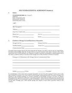 Self Storage Rental Agreement Template by Alberta Self Storage Rental Agreement Forms And