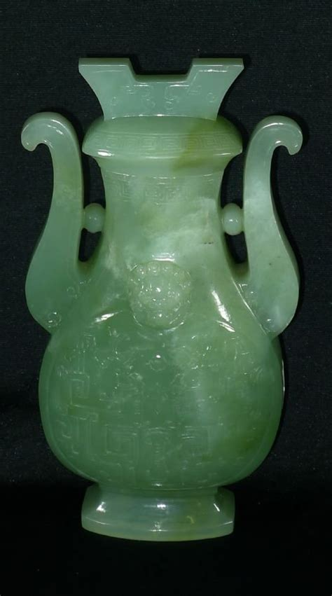 Jade Vases Antique by Large 19th Century Jade Vase And Cover 173001