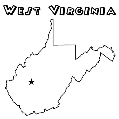 coloring page map of virginia west virginia coloring download west virginia coloring
