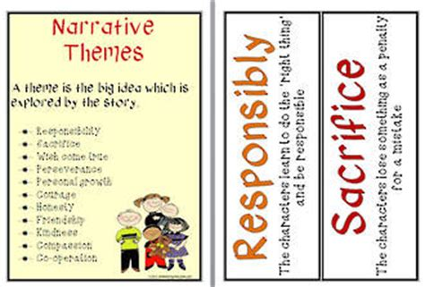 themes list read it write it tell it narrative themes flashcards abc teaching resources