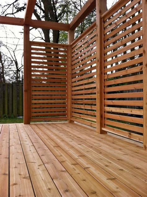 25 best ideas about privacy deck on backyard