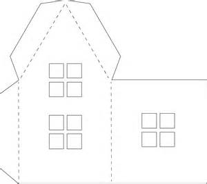 pop up paper house template paper houses free templates