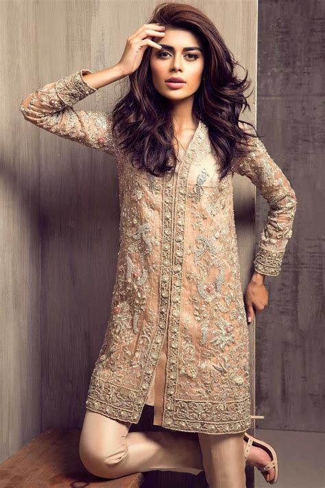 design dress pakistani pakistani party wear embroidered shirts designs 2017 2018