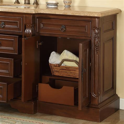 silkroad exclusive 72 quot single sink bathroom vanity set
