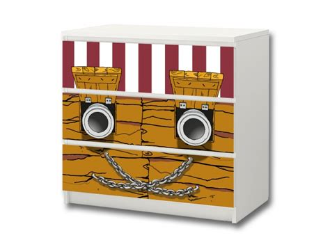 aufkleber für ikea malm kommode pirate world stickers for ikea malm 3 drawers stikkipix