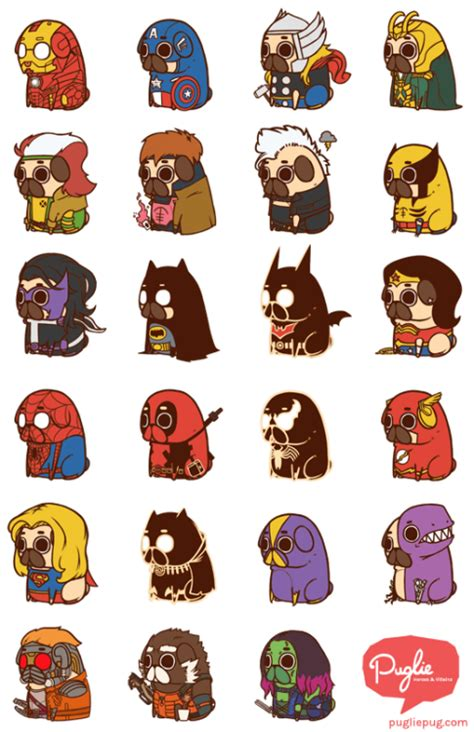 pug dc batman dc iron pug comics captain america deadpool thor