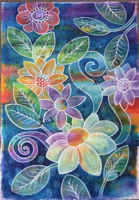 painting upholstery with acrylic paint 20 best images about painted flowers on pinterest flower