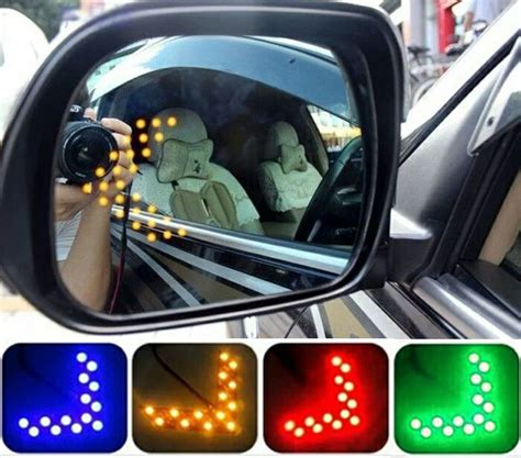 Lu Led Spion Mobil jual beli led sein spion arrow biru 14smd led sen sign