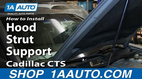 replace hood strut support   cadillac cts