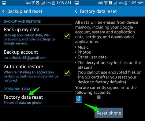 reset android data usage how to wipe an android phone completely drippler