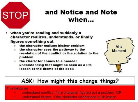 aha moments books 17 best images about reading with signposts on