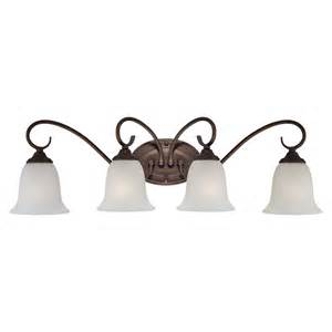 Bronze Bathroom Lighting Shop Millennium Lighting 4 Light Rubbed Bronze Standard Bathroom Vanity Light At Lowes