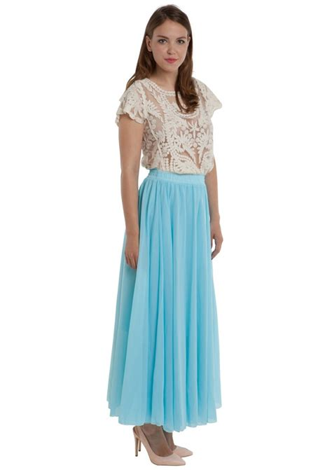 vacation maxi skirt in baby blue happiness boutique