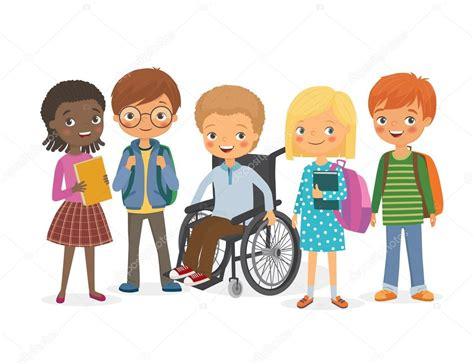 imagenes de niños jugando con sus amigos ni 241 o discapacitado con sus amigos internacionales vector